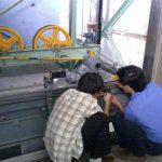 Nghiệm thu thang máy tại kho nguyên liệu nhà máy thuốc lá Khatoco Khánh Hòa (31/12/2011)