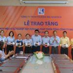 Lễ trao tặng Huy hiệu vì sự nghiệp xây dựng và phát triển Tổng Công ty Khánh Việt năm 2018