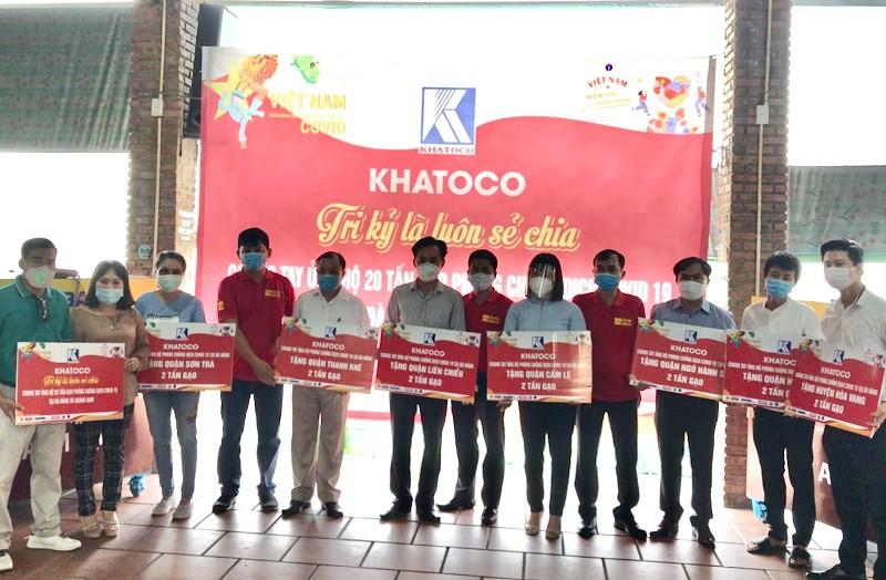 Khatoco ủng hộ 20 tấn gạo trong công tác phòng, chống dịch COVID-19 cho Đà Nẵng và tỉnh Quảng Nam.